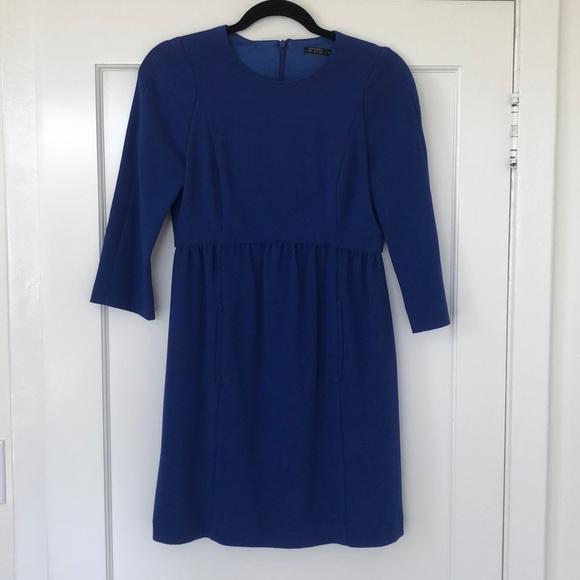 4ee606b5 Zara Dresses | Royal Blue 34 Sleeve Dress | Poshmark